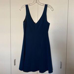 Amanda Uprichard navy silk dress